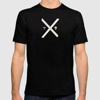 Mulder And Scully Mens Fitted Tee Black SMALL