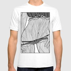 la femme 08 SMALL White Mens Fitted Tee