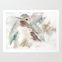 Watercolored Bird Of Won… Art Print
