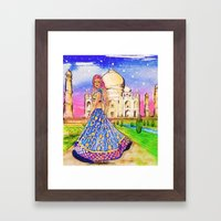 Meet Me In Agra, India  Framed Art Print