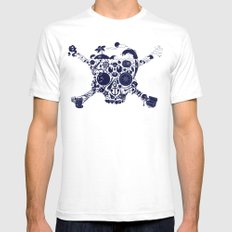 Pirates Stuff Mens Fitted Tee White SMALL
