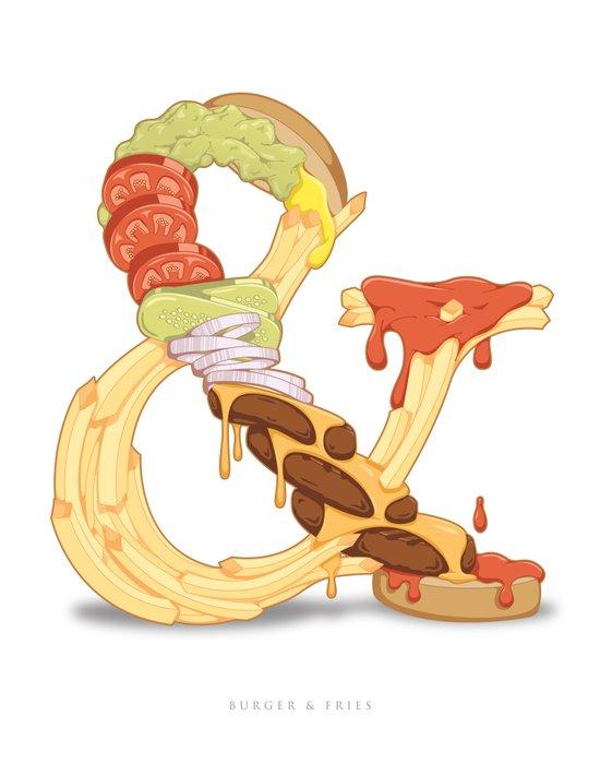Burger & Fries Canvas Print