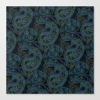Paisley And Undines Canvas Print