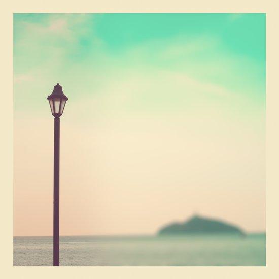 Beach Summer Lamp  Art Print