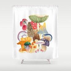Woodland Mushroom Society Shower Curtain