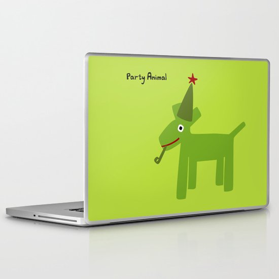 Party Animal-Green Laptop & iPad Skin