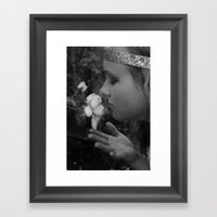 Stop To Smell The Roses Framed Art Print