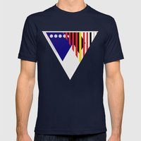 PriTri Mens Fitted Tee Navy SMALL
