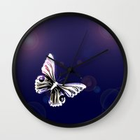 One Butterfly Wall Clock