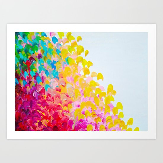 Creation In Color Vibrant Bright Bold Colorful Abstract