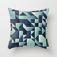 :: geometric maze V :: Throw Pillow