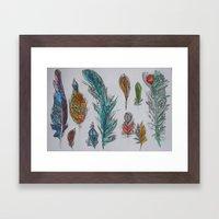 Zen Feathers Framed Art Print
