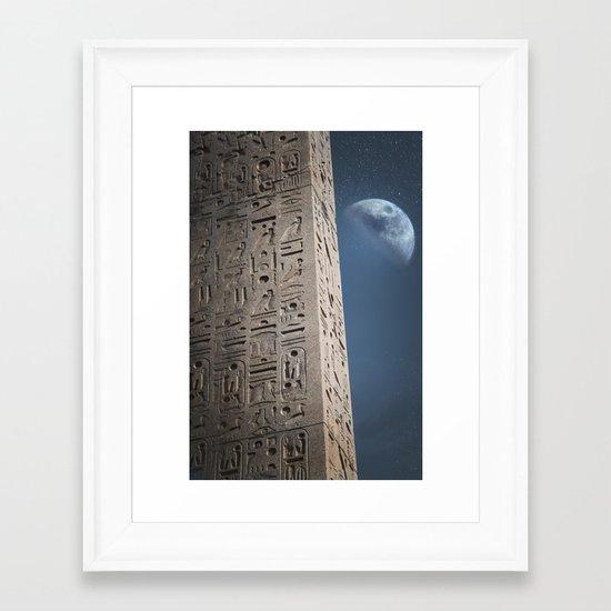 Egyptian Moon Framed Art Print