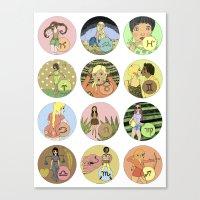 The Zodiac Canvas Print