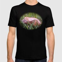 Beautiful Fungi And Gras… Mens Fitted Tee Black SMALL