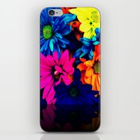 Neon Daisies iPhone & iPod Skin