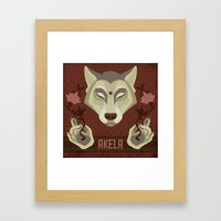 Akela Framed Art Print