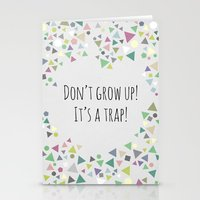 Don't grow up (colorful) Stationery Cards