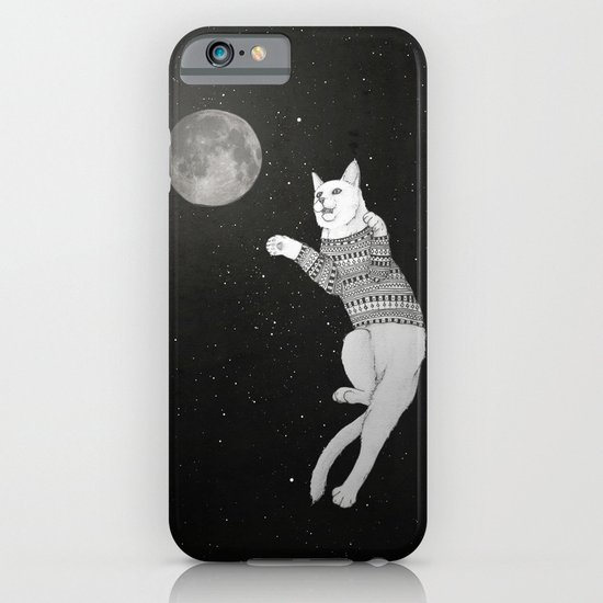 Cat trying to catch the Moon iPhone & iPod Case
