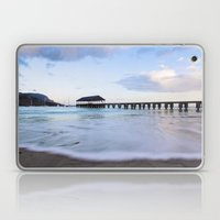 Hanalei Bay Pier at Sunrise Laptop & iPad Skin