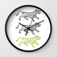 Three Tigers Wall Clock