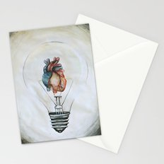 the best ideas come from the heart Stationery Cards