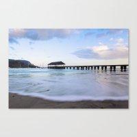 Hanalei Bay Pier At Sunr… Canvas Print