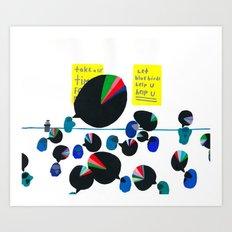 group therapy, coffee break Art Print