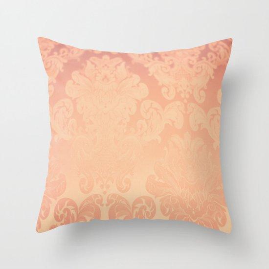 Pink Rose Vintage Throw Pillow