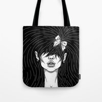 Girl With A Ribbon  Tote Bag