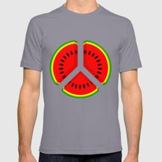 Watermelon Mens Fitted Tee Slate SMALL