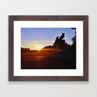 Sunset In Hyde Park Framed Art Print