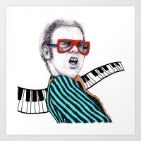 Vintage Elton - Analog Z… Art Print