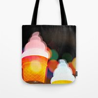 All the pretty lights - V Tote Bag