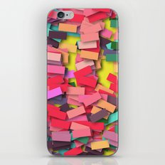 pink colored bricks iPhone & iPod Skin