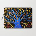 Blue tree/abstract Laptop Sleeve