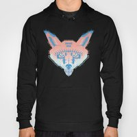 Pastel Fox Pattern Hoody
