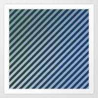 stripes Art Prints featuring Stripes by David Zydd