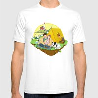 Custom Illustration for Emma and Edward Mens Fitted Tee White SMALL