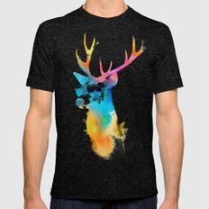 Sunny Stag Mens Fitted Tee Tri-Black SMALL