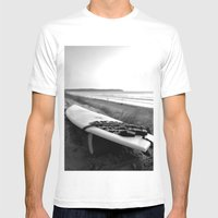 Surfboard Mens Fitted Tee White SMALL