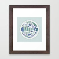 Little Fishes Framed Art Print