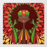 FIFA 2014 Samba Girls Series: Cameroon Canvas Print