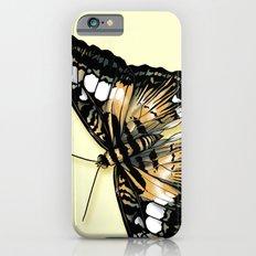 Papillon jaune et noir iPhone 6s Slim Case