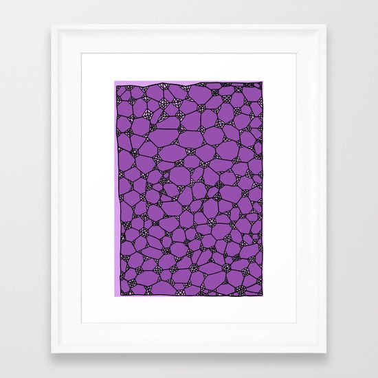 Yzor pattern 006-3 kitai lilac Framed Art Print