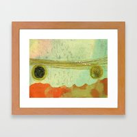 storm at the bay Framed Art Print