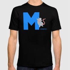 m for mouse Mens Fitted Tee Black SMALL