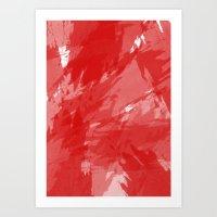 RED HOT CHILI PRINT Art Print