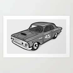 Stock Car 01 - Ted Schmilly Art Print