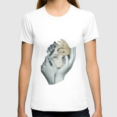 Cuddle Womens Fitted Tee White SMALL